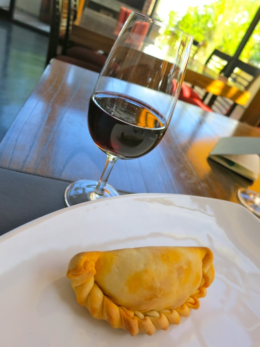 Malbec and an empanada