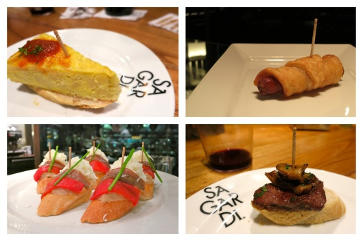 pintxos at Sagardi