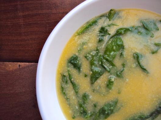 Spinach & Polenta Soup