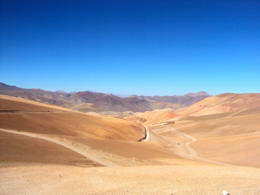 Emerging from Paso San Francisco into the Atacama Desert in Chile