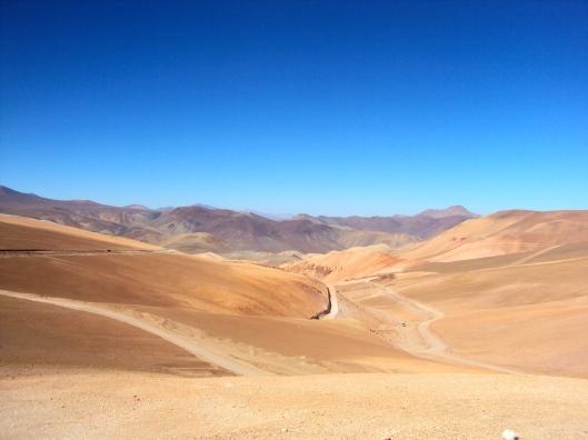 Emerging from Paso San Francisco into the Atacama Desert in Chile